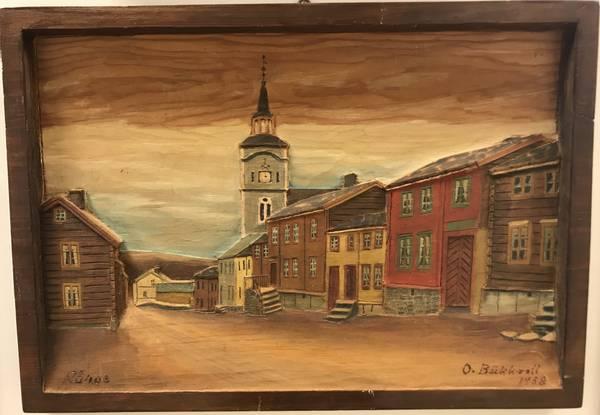 Bilde av Bukkvoll, Rørosmotiv 40 x 28 cm